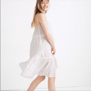 Madewell Tiered Cover-Up Dress in Rainbow Clipdot